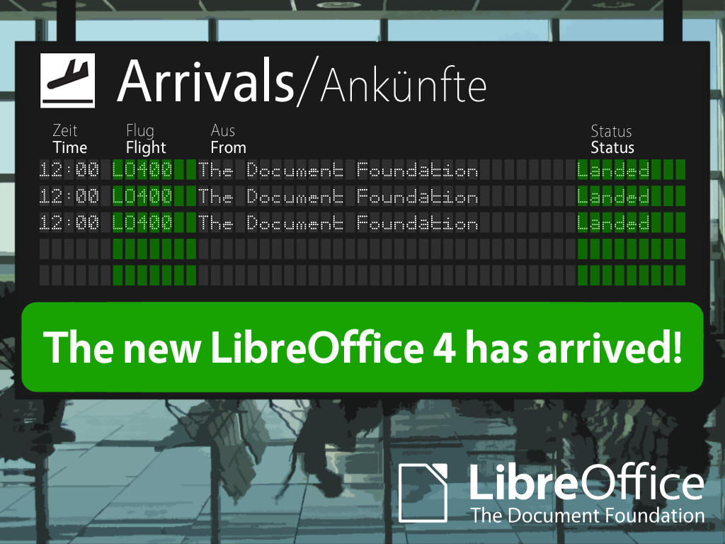 Lancement de LibreOffice 4.0